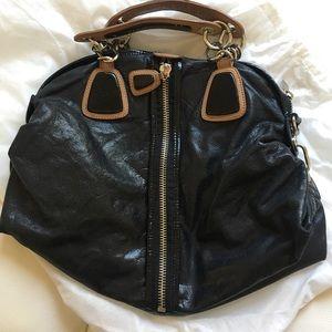Cynthia Rowley black hobo leather bag